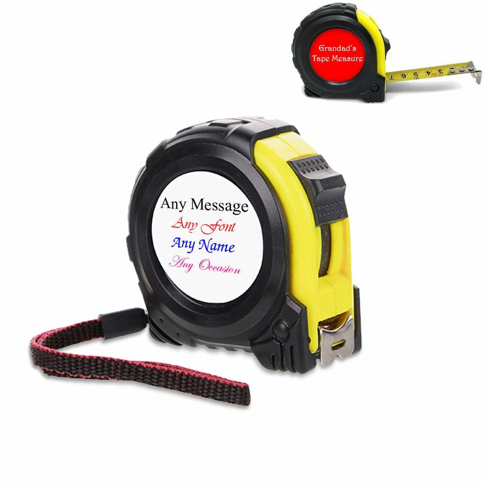 5 Metre Tape Measure, Personalise with Any Message with Any Colour