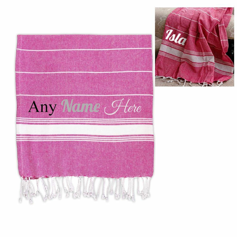 Personalised Turkish Style Cotton Pink Towel